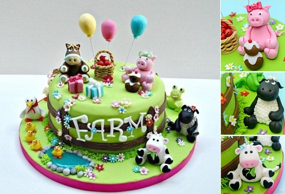 baby animals cake farm cake tutorial from Pretty Witty Cakes