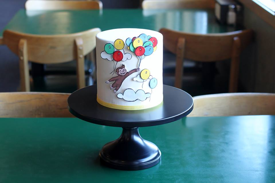 balloon cake by Sweet and Swanky Cakes