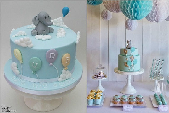 balloon cakes from Sugar & Spice Gourmandise Gifts left and Peace of Cake right