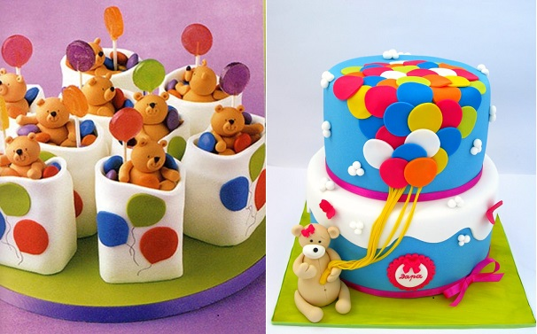 Balloon Cakes Via Funmagorg Left And By Mina Bakalova Bulgaria Right