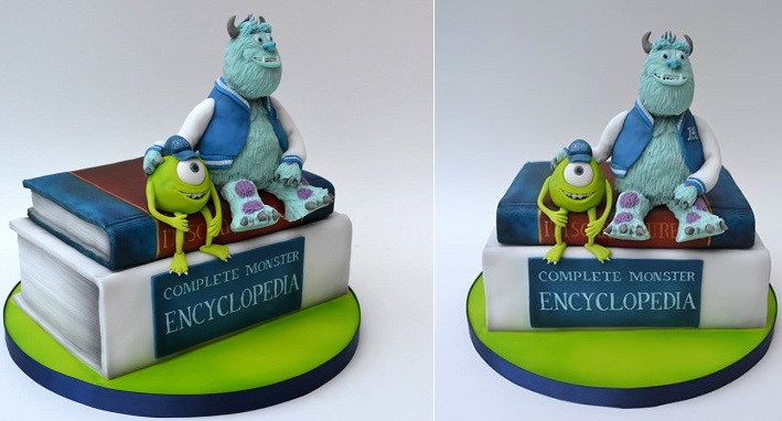 book cake Monster University by Coocakecachoo