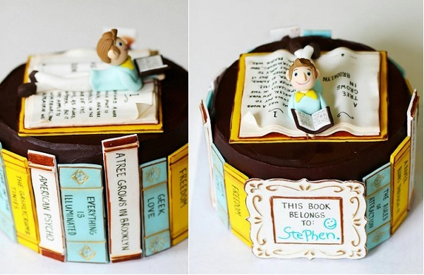 book cake by Man Bakes Cake
