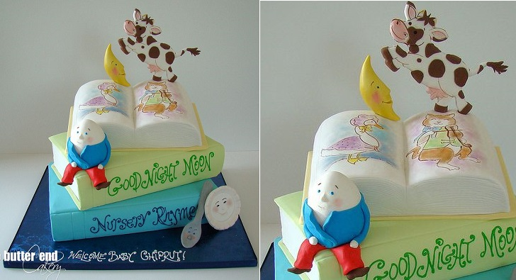 book cake nursery rhyme cake by The Butter End Cakery