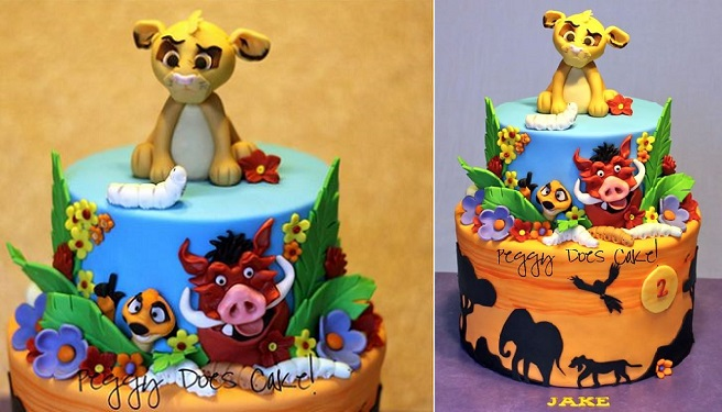 lion cake by Peggy Does Cake