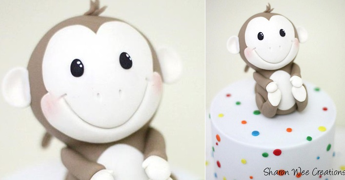 little monkey cake by Sharon Wee