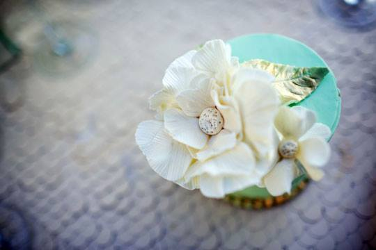 mint and gold cupcakes by The Fabulous Cake Girls, San Diego