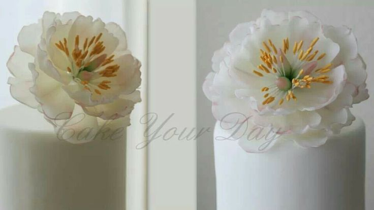 wafer paper peony by Cake Your Day