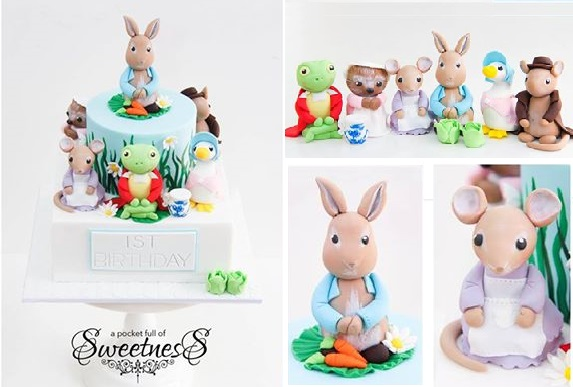 Beatrix Potter cake by A Pocket Full of Sweetness