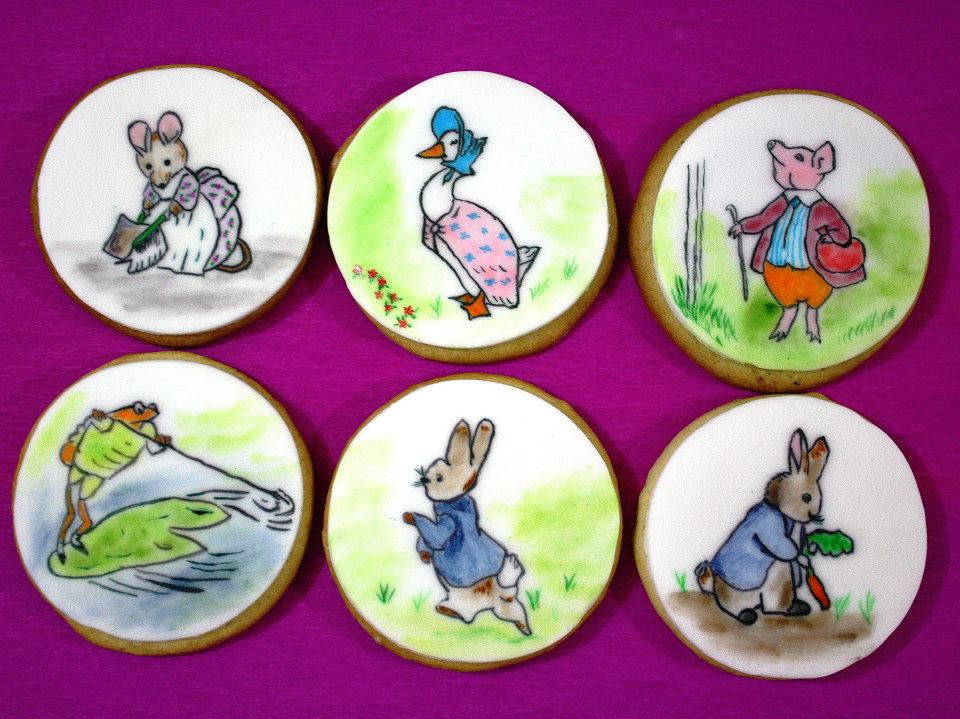 Beatrix Potter cookies handpainted by JTCakes Malta