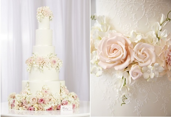 Blushing Blooms wedding cake by Peggy Porschen