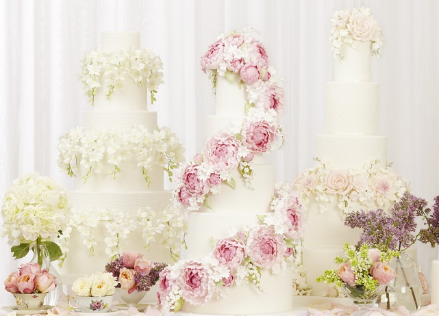 Peggy Porschen's floral wedding cake collection