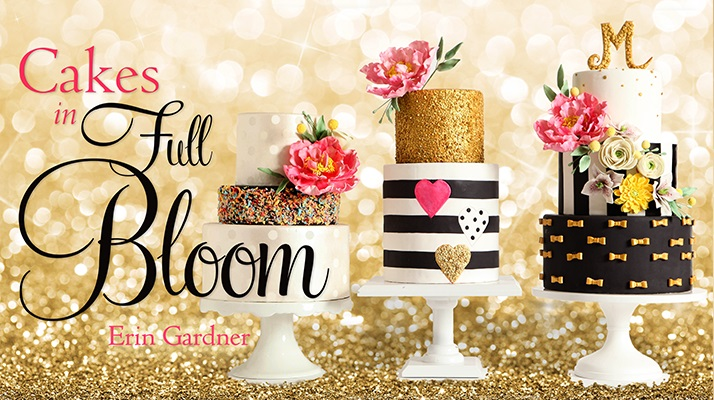 edible sequins tutorial included in Erin Gardner's Craftsy class, Cakes in Full Bloom