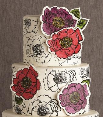 Cake Decorating Classes Taunton Uk : Hand-Stamped Cake Tutorial by Erin Gardner - Cake Geek ...