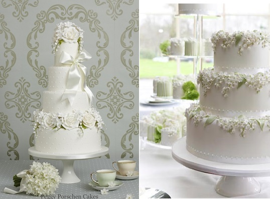 lily of the valley wedding cake by Peggy Porschen, image left Georgia Glynn Smith