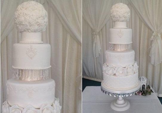 pomander wedding cake by Ganache Cake House UK