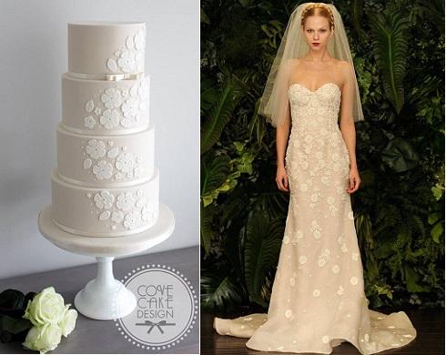 wedding dress inspired cake by Cove Cake Design, Dublin