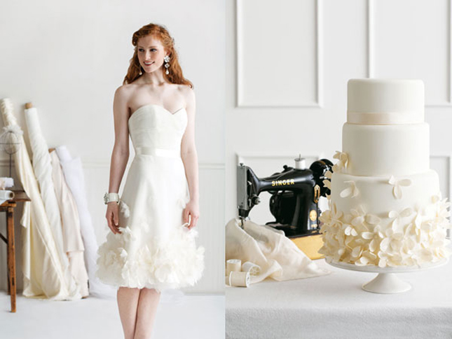 wedding dress inspired cake by I Dream of Jeanne Cakes, Liancarlo dress