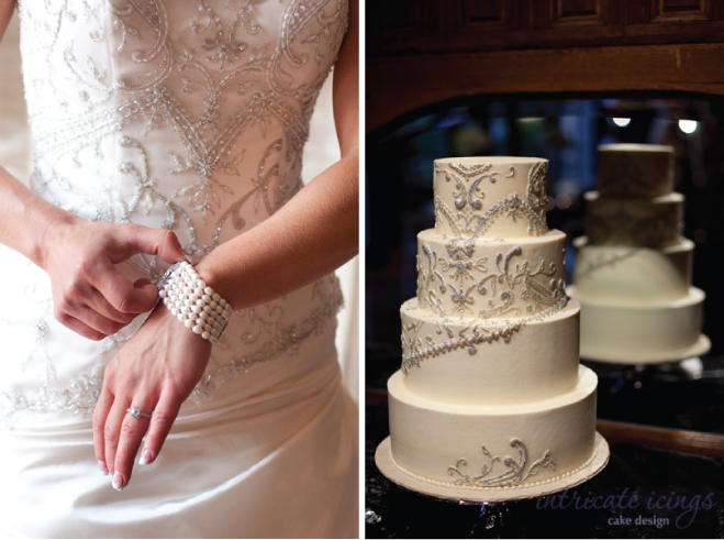 wedding dress inspired cake by Rachel Teufel of Intricate Icings Cake Design