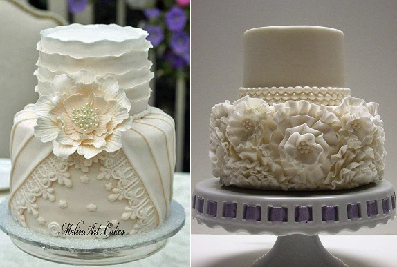wedding dress inspired cakes by Melin Art Cakes
