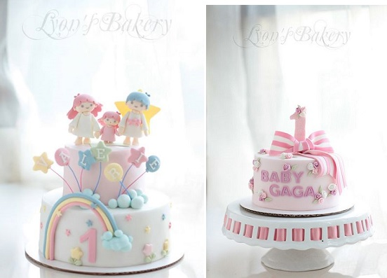 1st birthday cakes by Lyon's Bakery