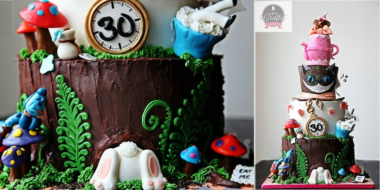 Alice in Wonderland cake by Arty Crafty Cakes