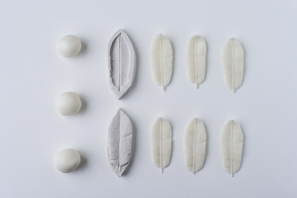 feather moulds from Rosalind Miller wedding cake tutorial