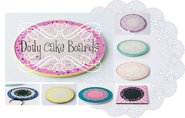 Doily Cake Boards Sweetness and Bright