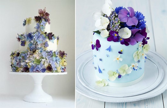 Midsummer Night's Dream cakes by Maggie Austin Cake left and Olofson Design right