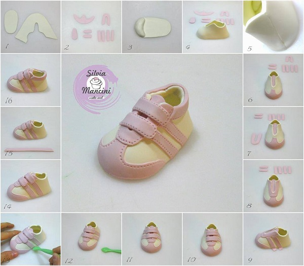baby shoe tutorial by Silvia Mancini