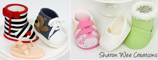 baby shoes tutorial by Sharon Wee Creations