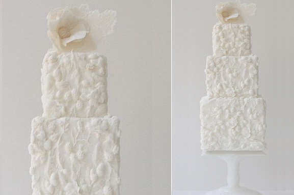bas relief wedding cake decorating by Maggie Austin