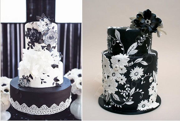 Black Wedding Cakes By Nevie Pie Cristina Rossi Photography And Ron Ben Israel For Martha