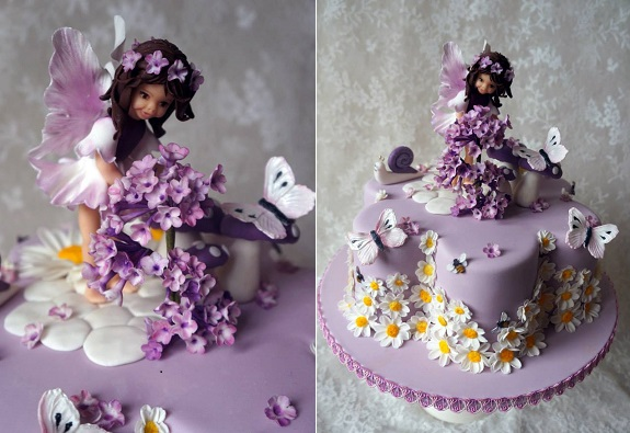 flower fairy cake by Butterfly Dream Cakes