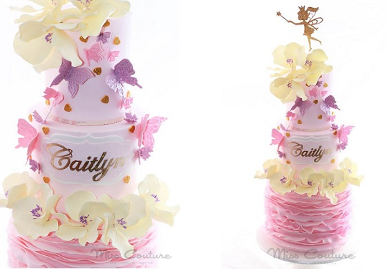 flower fairy cake by Miss Couture Cakes and Cupcakes