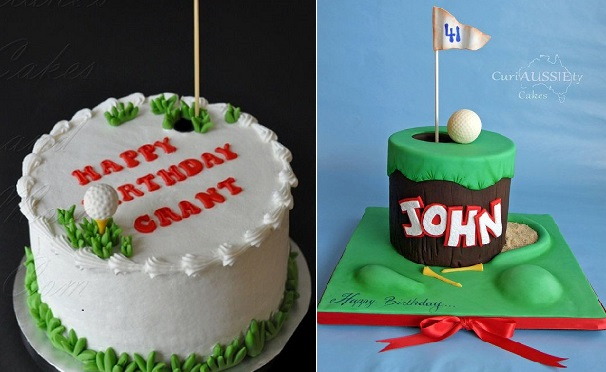 golf cakes by Cakes and More.com and CuriAUSSIEty Cakes