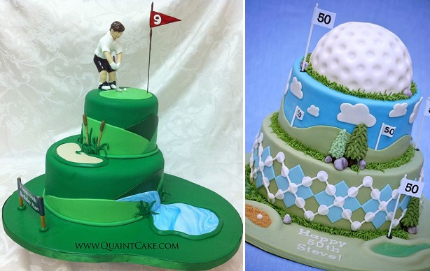 Golf Designs For Birthday Cakes