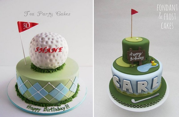 golf cakes from Tea Party Cakes and Fondant & Frost Cakes