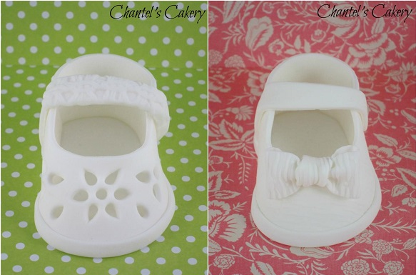 gumpaste baby shoes from Chantel's Cakery