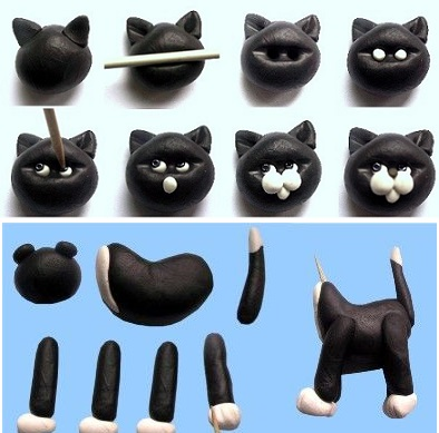 gumpaste cat tutorial by Verusca Walker