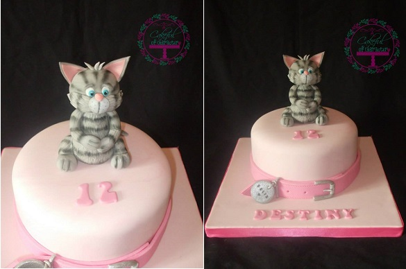 kitten cake by A Cakeful of Character