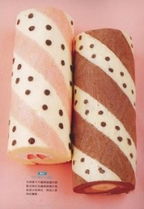 patterned swiss roll polka dots and stripes by JUNKO