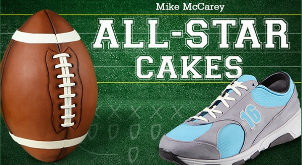 sports cakes by Mike McCarey
