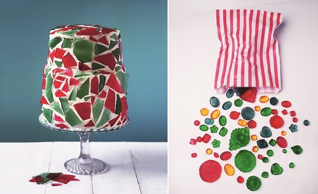 stained glass cake tutorial by Lily Vanilli