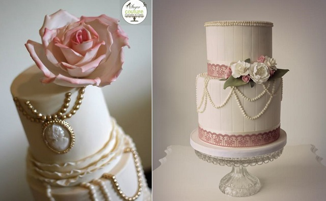 vintage jewellery wedding cakes by Sugar Couture and Consumed by Cake