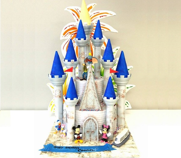Disneyland castle cake by Artylicious Cakes