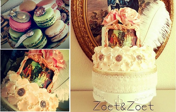 French baroque wedding cake by Sweet and Sweet