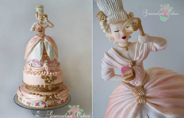 Marie Antoinette cake by Gonzuela's Cakes
