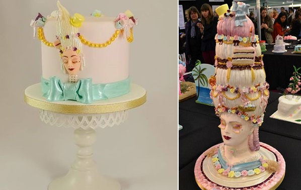Marie Antoinette cakes by Amanda MacCleod right and