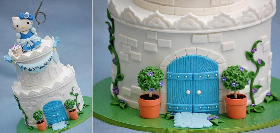 castle cake tutorial available from Royal Bakery FB shop