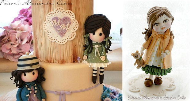 doll cakes and sugar models by Alessandra Frissoni